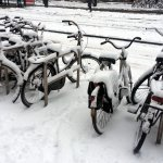 Snow-covered bikes 2